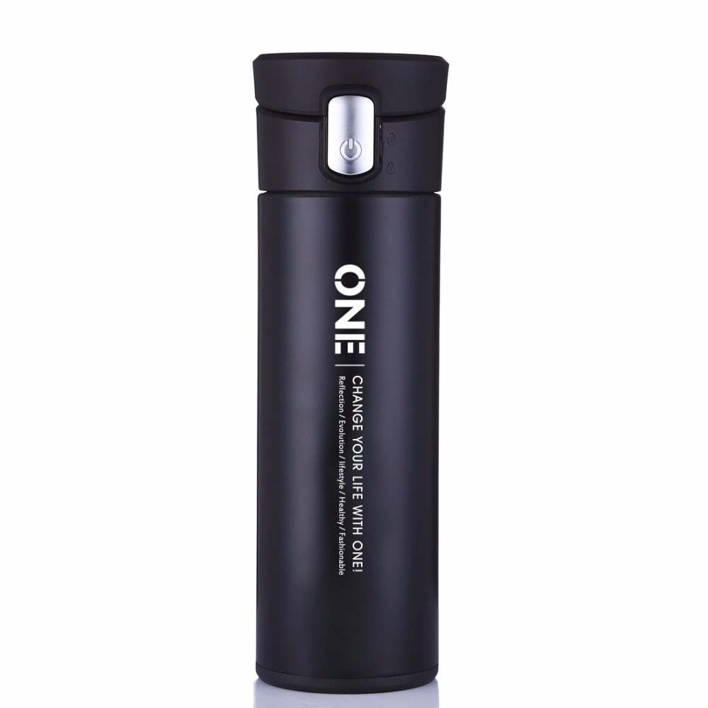 ONEISALL 320ML Glass Inside Thermos Cup Business Male Tea Cup Stainless Steel Vacuum Flask Leak-poof Insulation Car Mug Bottles