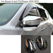 Car ABS chrome rear view Rearview Side glass Mirror Cover trim frame 2pcs For Nissan X
