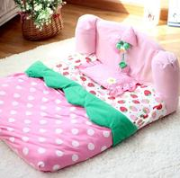 Top Quality Pet Dog Cat Lovely Strawberry Bed Dogs Cats Fashion Pink Princess House Supplies Puppy
