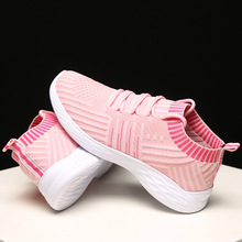 outdoor mesh sneakers women summer casual flat walking shoes new fashion lightweight breathable black and white sport shoes Outdoor sock Sneakers Women Casual flat Walking Shoes New Fashion Lightweight Breathable red and black sport Shoes for women