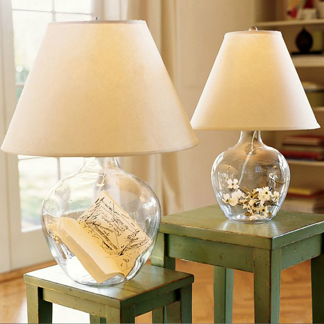 New Classical Hotel Lobby Lounge Glass Bedroom Desk Lamp