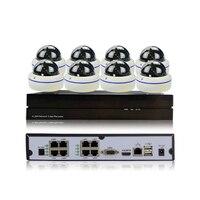 Full-HD 1080 P 2MP 8CH POE Sicherheit Ip-kamera-system Netzwerk P2P surveillance Indoor Nachtsicht 8CH POE NVR Onvif 2,1 CCTV Kit