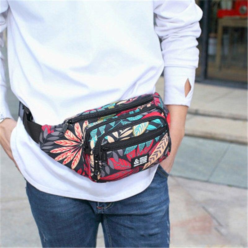 NIBESSER Waist Packs Women Fanny Pack Belt Bag Printed Phone Bag Case Travel Waist Pack Small Waist Bag Canvas Pouch 20*7*15cm стоимость
