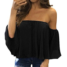 Stylish Women Off Shoulder Casual Blouse Shirt Tops Straples