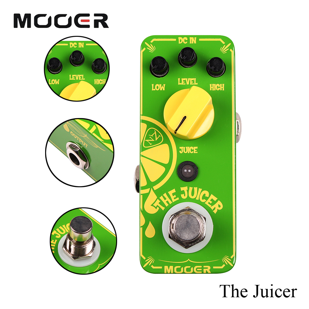 Mooer Mini The Juicer Neil Effects True Bypass With Zaza Signature Overdrive Guitar Effect Pedal aroma adr 3 dumbler amp simulator guitar effect pedal mini single pedals with true bypass aluminium alloy guitar accessories