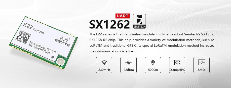 E22-230T22S SX1262 IPEX 230mhz rf module (1)