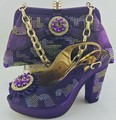 Africa PU Leatther Pumps Shoes And Matching Bags Set For Party Dress Summer High Heels Shoes And Bag Set Fast Shipping ME6605