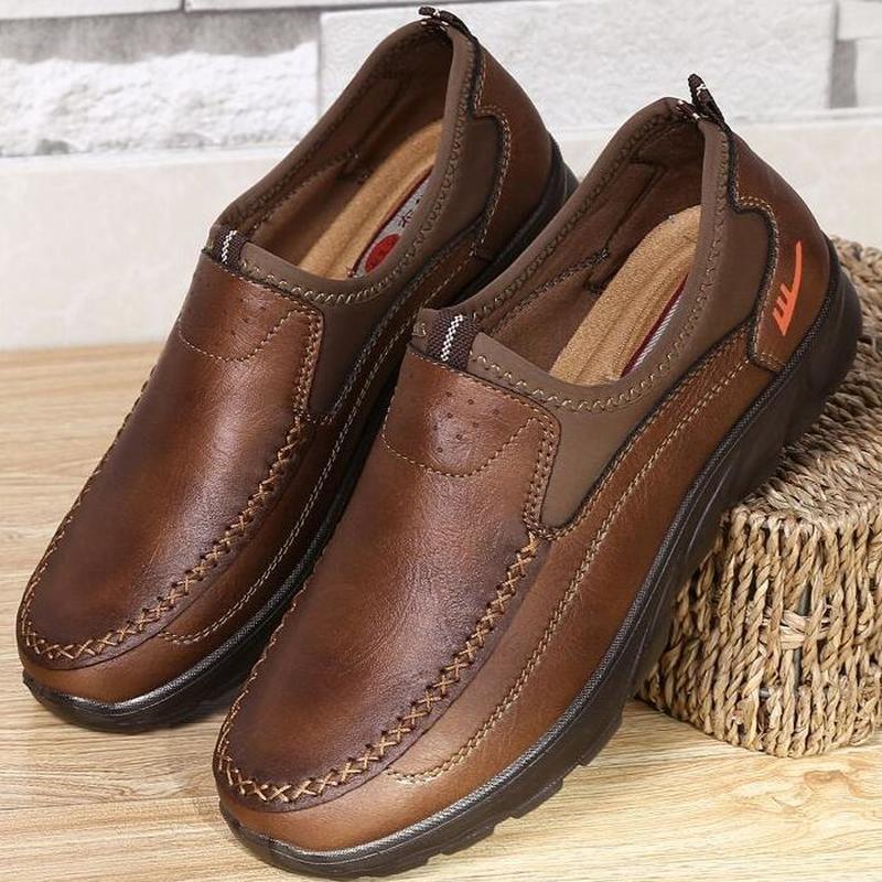 Sapatos casuais masculinos, 2019 primavera e outono novo fundo macio sapatos masculinos confortáveis mocassins masculinos tamanho grande 48