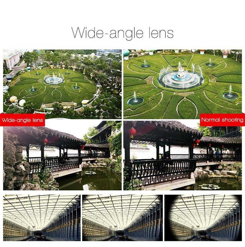 Fisheye Lens 3 in 1 mobile phone clip lenses fish eye wide angle macro camera lens for iphone 6s plus 5s/5 xiaomi huawei lenovo 4