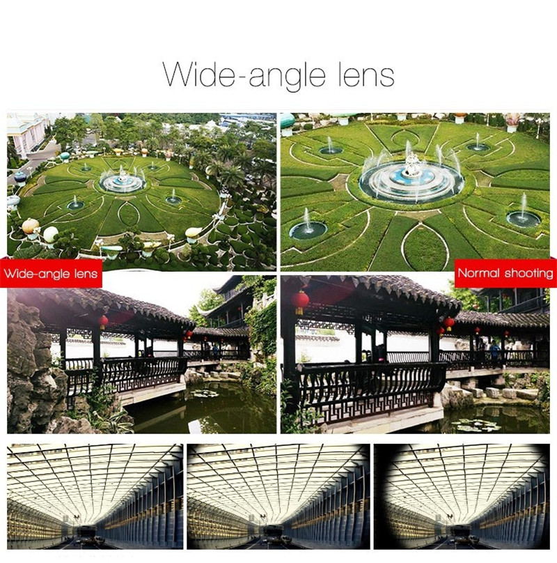 Fisheye Lens 3 in 1 mobile phone clip lenses fish eye wide angle macro camera lens for iphone 6s plus 5s/5 xiaomi huawei lenovo 4