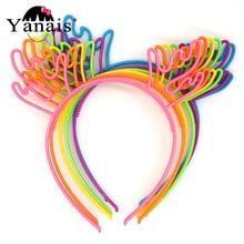 12pcs/lot Wholesale Deer Horn Hair Bands Christmas Party Hair Decoration Hair Accessories Plastic Hair Hoop Bezel With Teeth даббинг hemingway deer hair