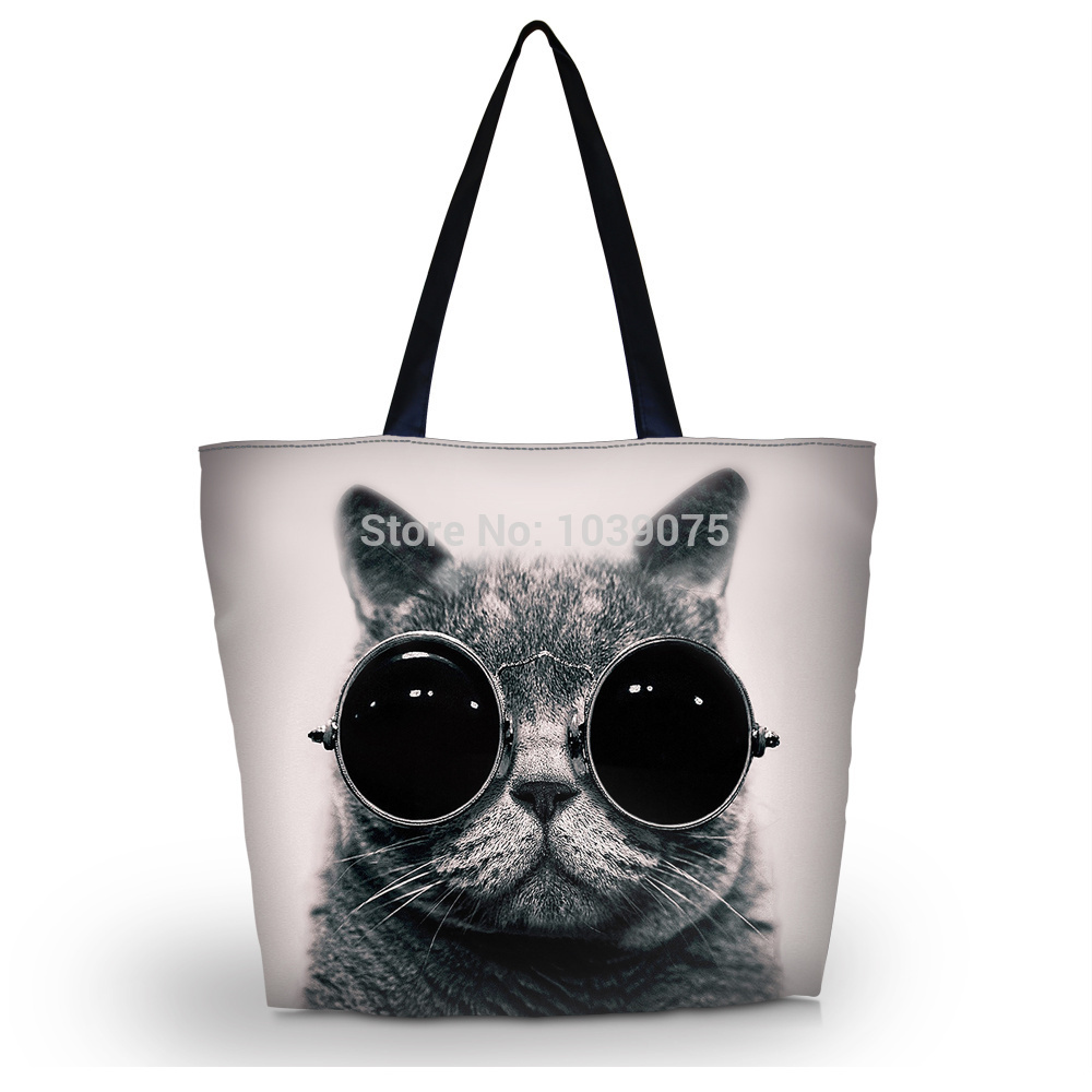 Aliexpress.com : Buy Glasses Cat Shopping Tote Utility Portable ...