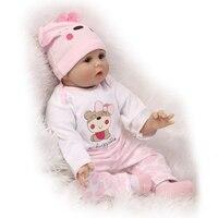 55cm Silicone Reborn Baby Doll Toys Lifelike Soft Cloth Newborn babies Doll Reborn Birthday Gift Girls