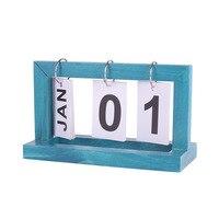 Kreatywny drewna kalendarz drewniane Diy odwróć kalendarz tabeli dekoracji domu w Dekoracyjne litery i cyfry od Dom i ogród na