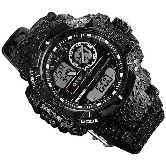 fb4274da0d6 OTS novo relogio masculino digital de esportes Dos Homens Relógios de  Quartzo marca OTS 50 m