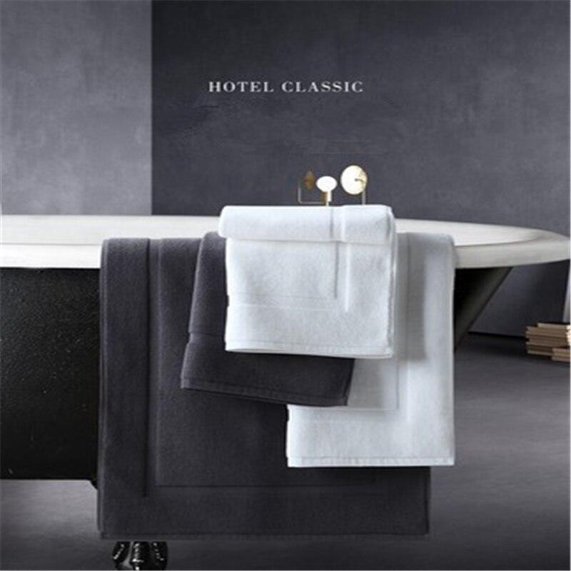Cinq étoiles hôtel coton salle de bain tapis de sol coton famille cuisine salle de bain jacquard porte tapis