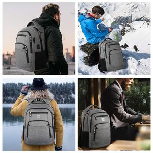 Image 5 - Laptop Backpack 15.6 Unisex Fits Inch Business Travel Anti Theft Slim Durable Backpack with USB Charging Port Water School Bag