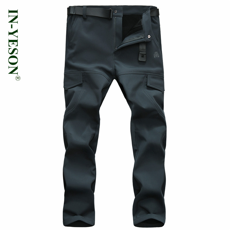 New Brand Camping Hing Pants Men Autumn Winter Windproof Thermal Thick Outdoor Sports Hunting Trekking Pants Softshell Trousers men warm autumn winter softshell hiking pants waterproof windproof outdoor trousers sports camping trekking fishing pants rm044