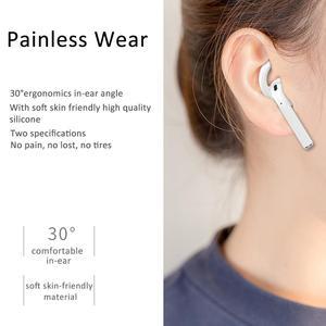 Image 4 - 3 accoppiamenti Del Silicone a Forma di Gancio Auricolare Stabilizzatore In Ear Anti slittamento Ganci per le Orecchie Coperture Accessori Per AirPods EarPods Wired cuffie