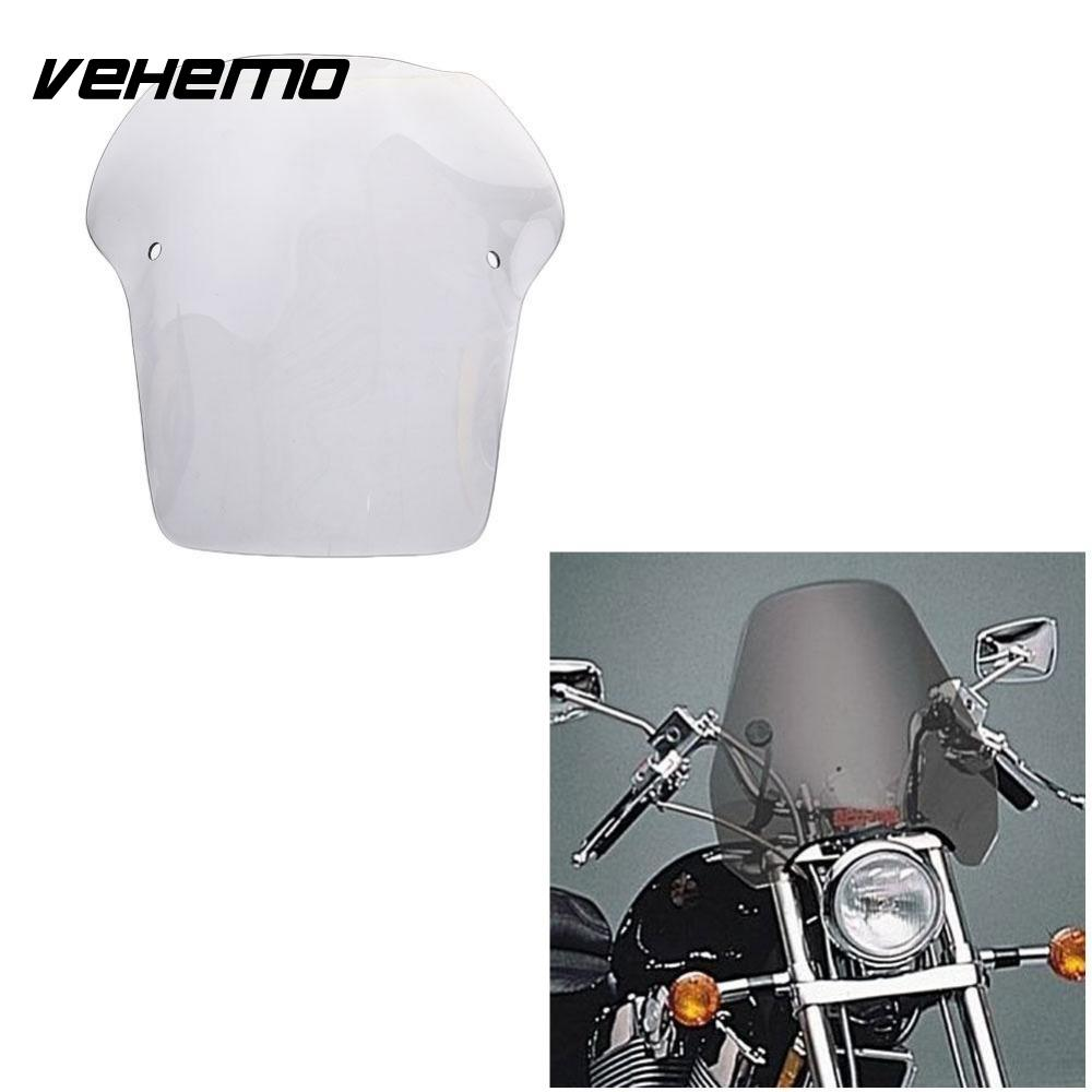 Vehemo New Good Quality 17 Universal Transparent Motorcycle Motorbike Windshield
