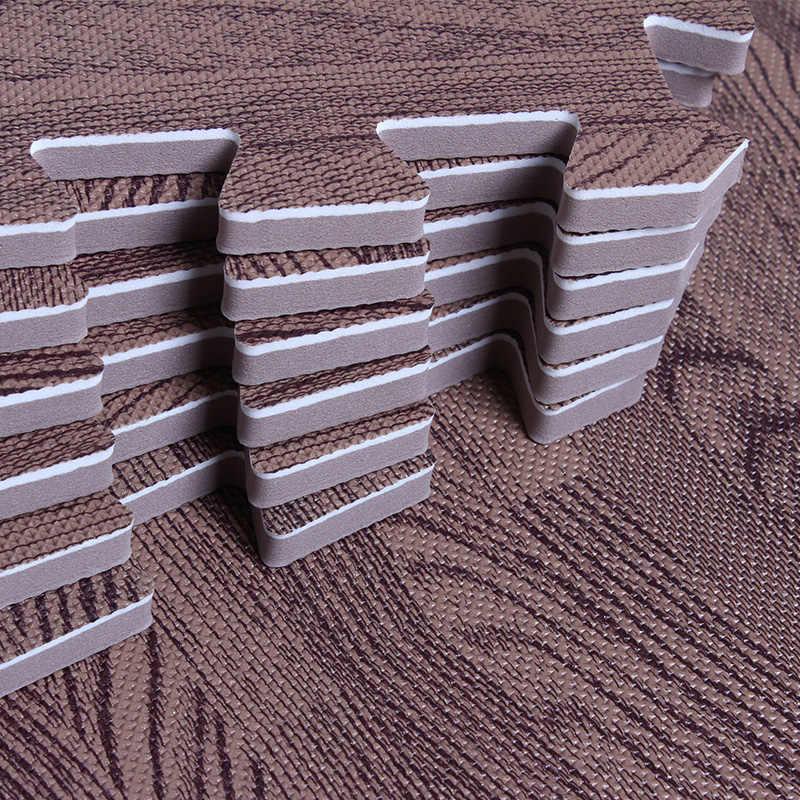 Ahşap tahıl bebek oyun bulmaca matı çocuk odası için zemin bulmaca çocuklar eğitim köpük Eva kare emekleme halı yapboz 31cm