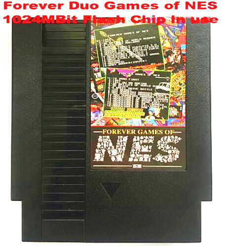 FOREVER DUO GAMES OF NES 852 in 1 (405+447) Game Cartridge for NES Console, total 852 games 1024MBit Flash Chip in useFOREVER DUO GAMES OF NES 852 in 1 (405+447) Game Cartridge for NES Console, total 852 games 1024MBit Flash Chip in use