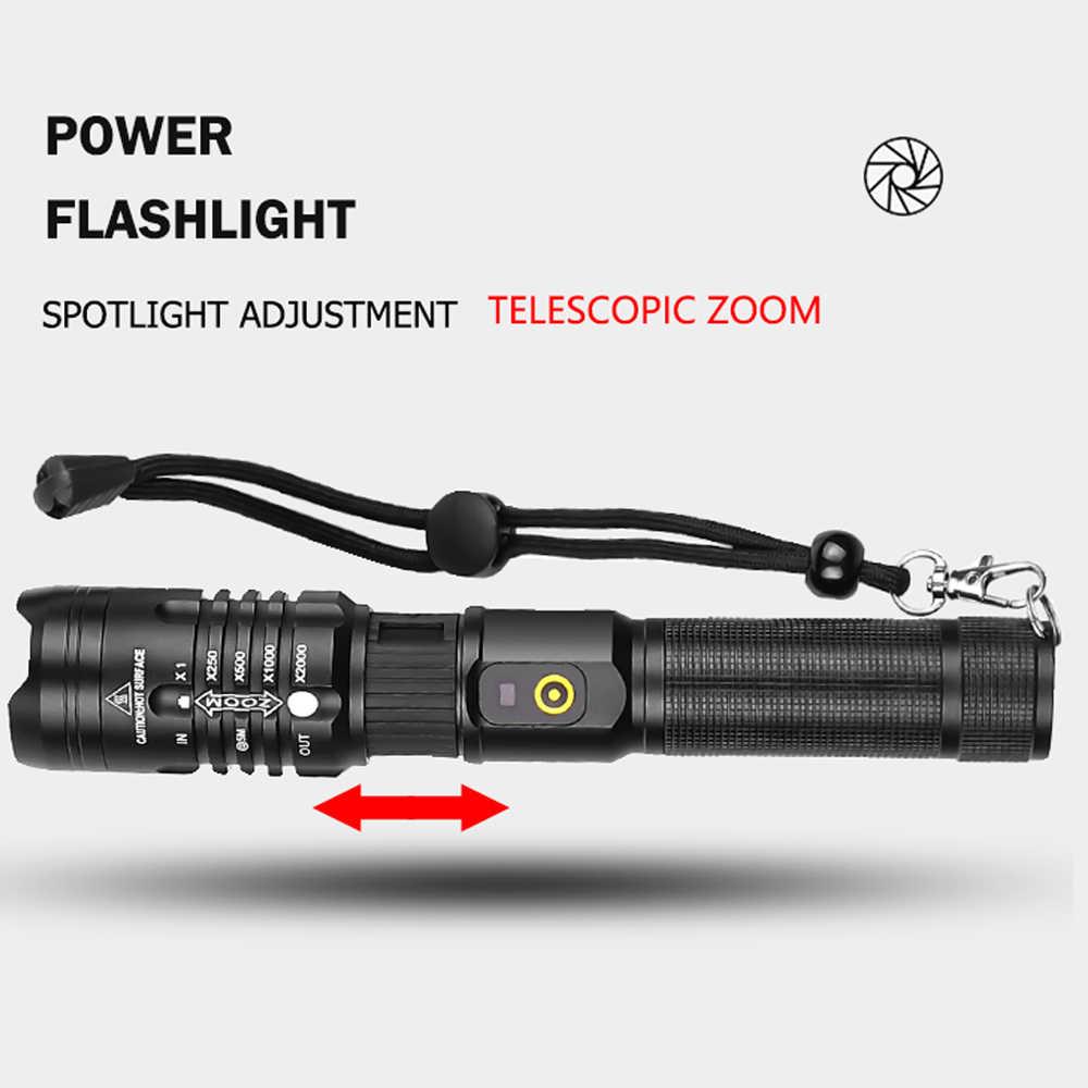 Xlamp 60000LM עוצמה LED פנס XHP50.2 USB נטענת לפיד XHP70.2 זום פנס XHP50 ציד מנורת להשתמש 18650