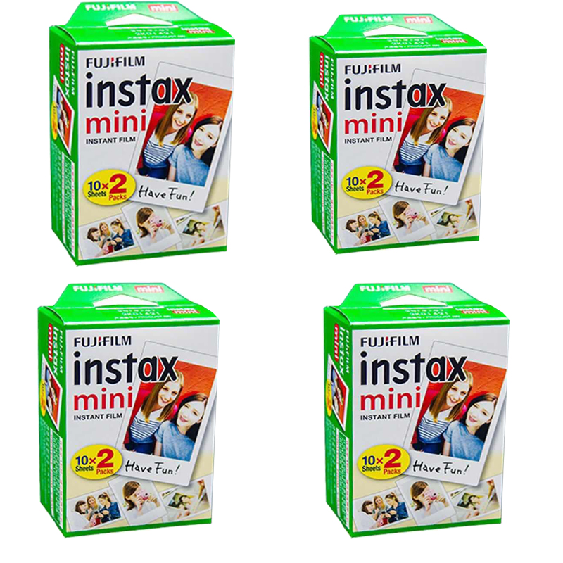 Original Fuji Fujifilm Instax Mini 8 Film 80 feuilles papier Photo blanc bord pour Polaroid 7 s 8 90 25 55 partager SP-1 appareil Photo instantané