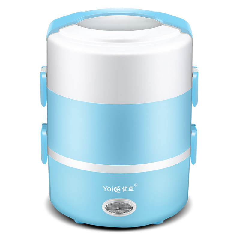 Portable Electric Lunch Box 3 Layers Can Be Plugged In Heat The Lunch Box Hot Rice Artifacts Steamed Rice Insulation 2L new portable 1 6l electric lunch box automatic insulation heating food container double layer mini hot steamed rice cooker
