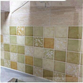 Sólido adhesivo del papel pintado del mosaico para cocina baño ...