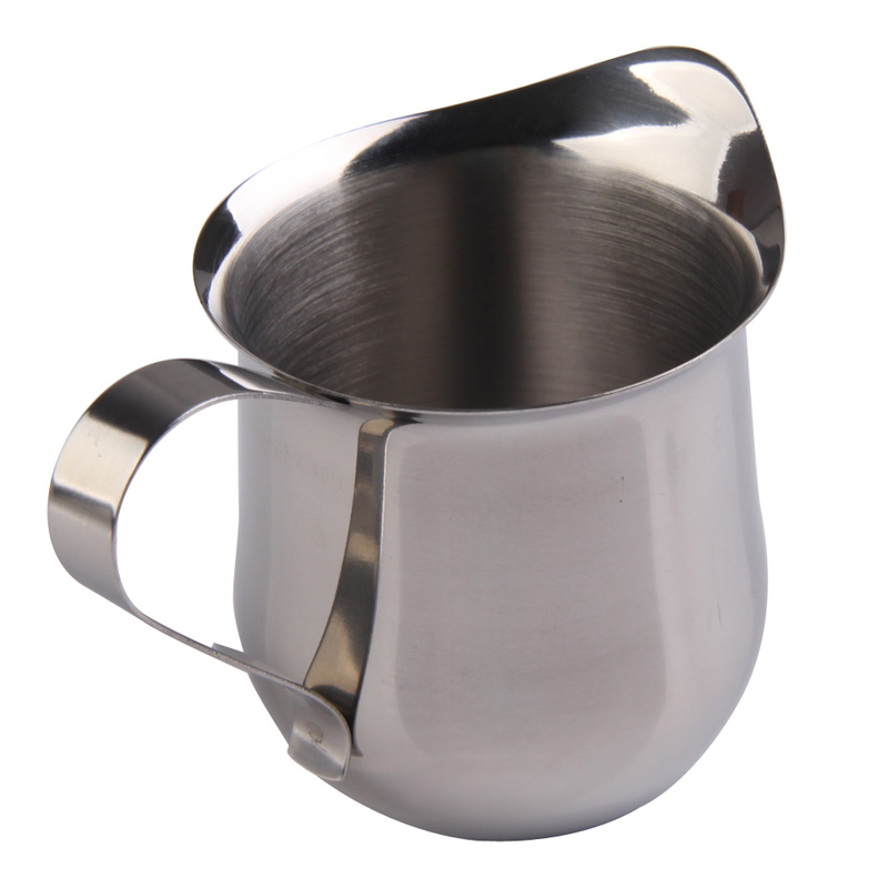 Perfect Coffee Milk Mug Cup Jug 3/5/8 OZ Stainless Steel Coffee Shop Small Milk Cream Waist Shape Cup Jug Nice