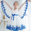 Christmas Holiday girls flower dress butterfly princess for party wedding age size 2t 3t 4 5 6 7 8 10 years