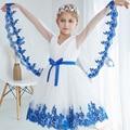 Vestido de flores chicas de la mariposa princesa para el banquete de boda de Vacaciones de navidad edad tamaño 2 t 3 t 4 5 6 7 8 10 años