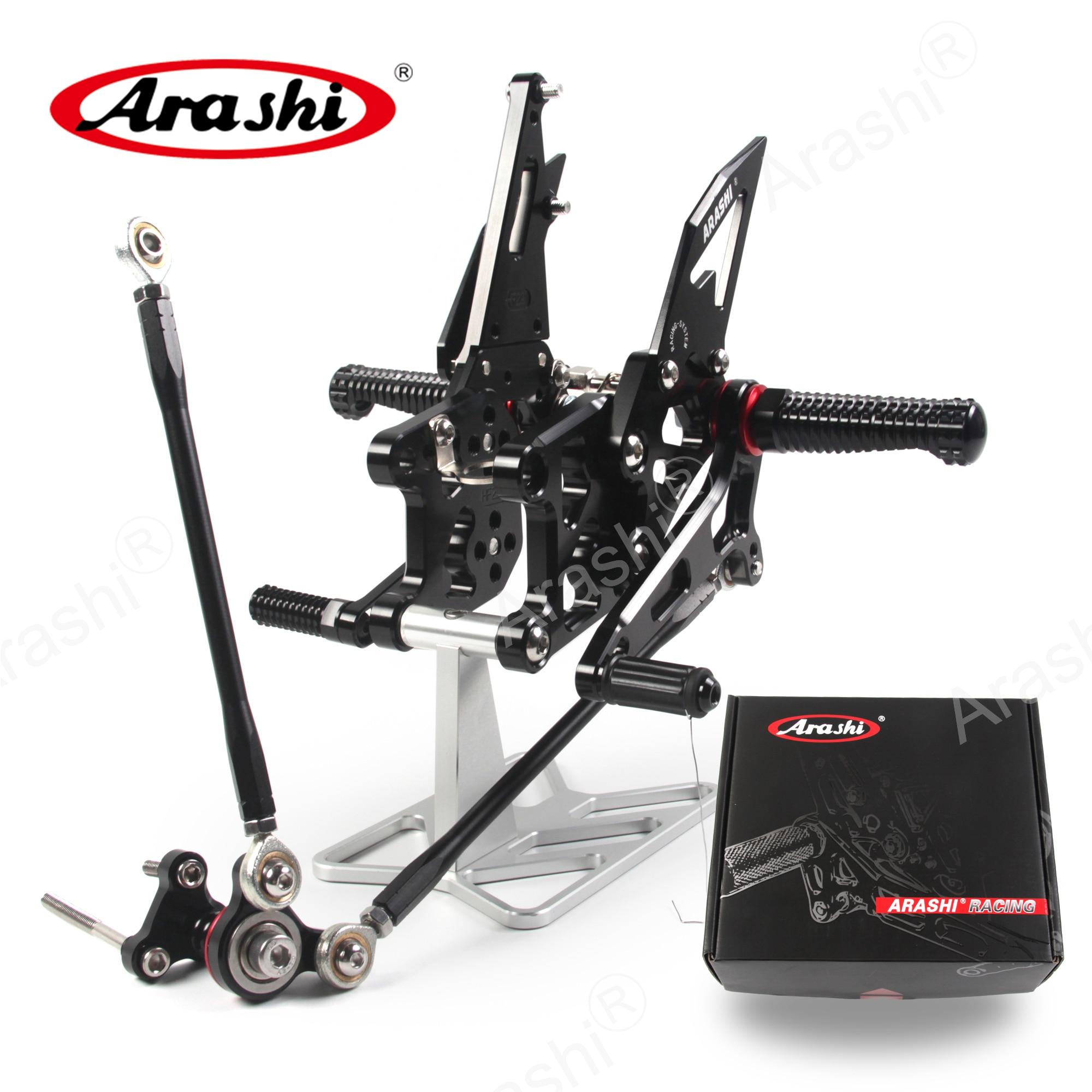 ARASHI CBR600RR 2007-2008 Rider Footrest For HONDA CBR 600 CBR600 RR 2007 2008 07 08 Adjustable Rearsets Foot Pegs Rear Rest