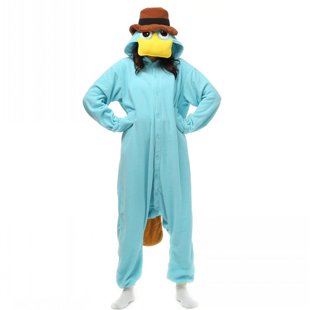 Where s My Perry Platypus Cute Onesies Animal Perry the Platypus Duckmole  Duckbill Sleepwear Pajamas Cosplay Carnival Costumes 868c418bb