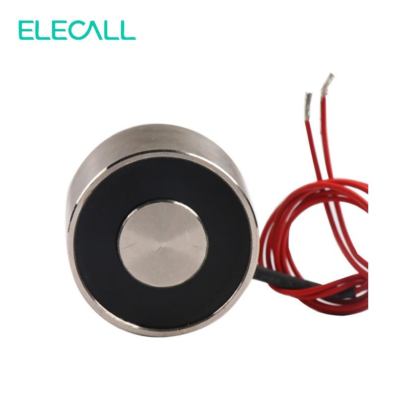 все цены на ELE-P34/25 Electric Lifting Magnet Holding Electromagnet Lift 20Kg Solenoid 12V DC 6W онлайн