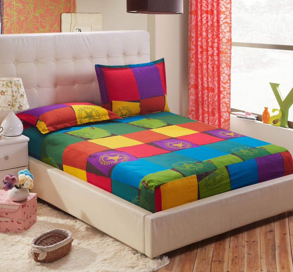 one piece printing fitted sheet twin full queen king sizebed mattress