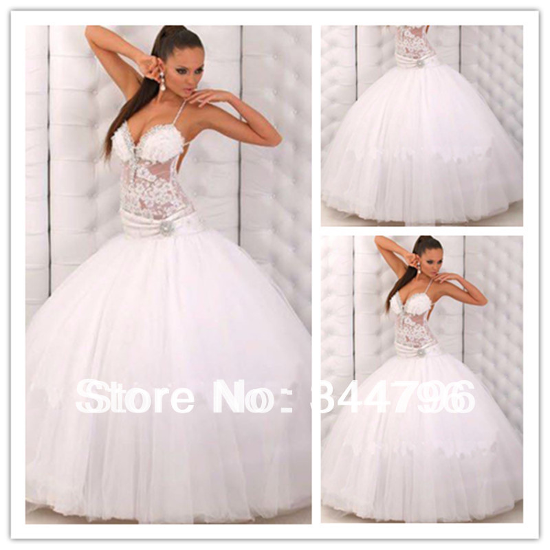 Sexy transparent lace corset ball gown floor length for Sexy corset wedding dress