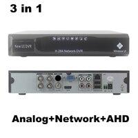 4CH AHD DVR NVR 3 in1 Híbrido Analógico + Rede + 4 canais de Áudio e Vídeo H.264 P2P AHD CCTV Segurança gravador