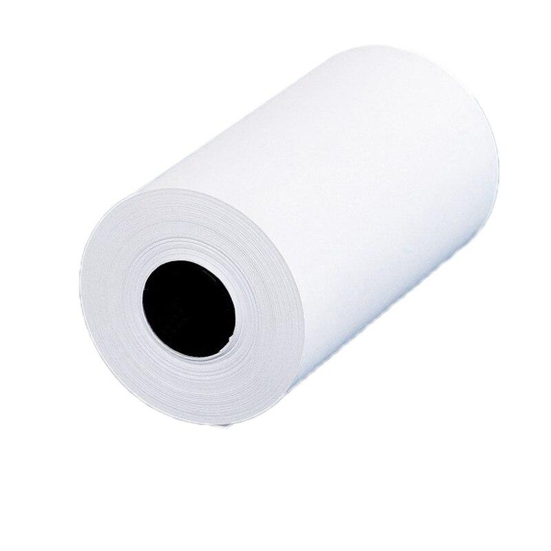 3 рулона печать наклеек бумага белая прямая термобумага самоклеящаяся 57X30 мм для бумаги ang P1 P2 портативный Bluetooth карман