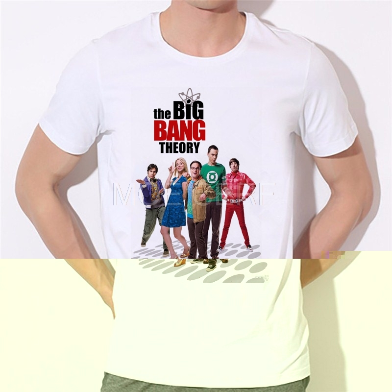 Men printed Short Sleeve The Big Bang Theory   T  -  shirt   for men The hottest TV series   T     shirt   Tops Factory direct sales 87-5#