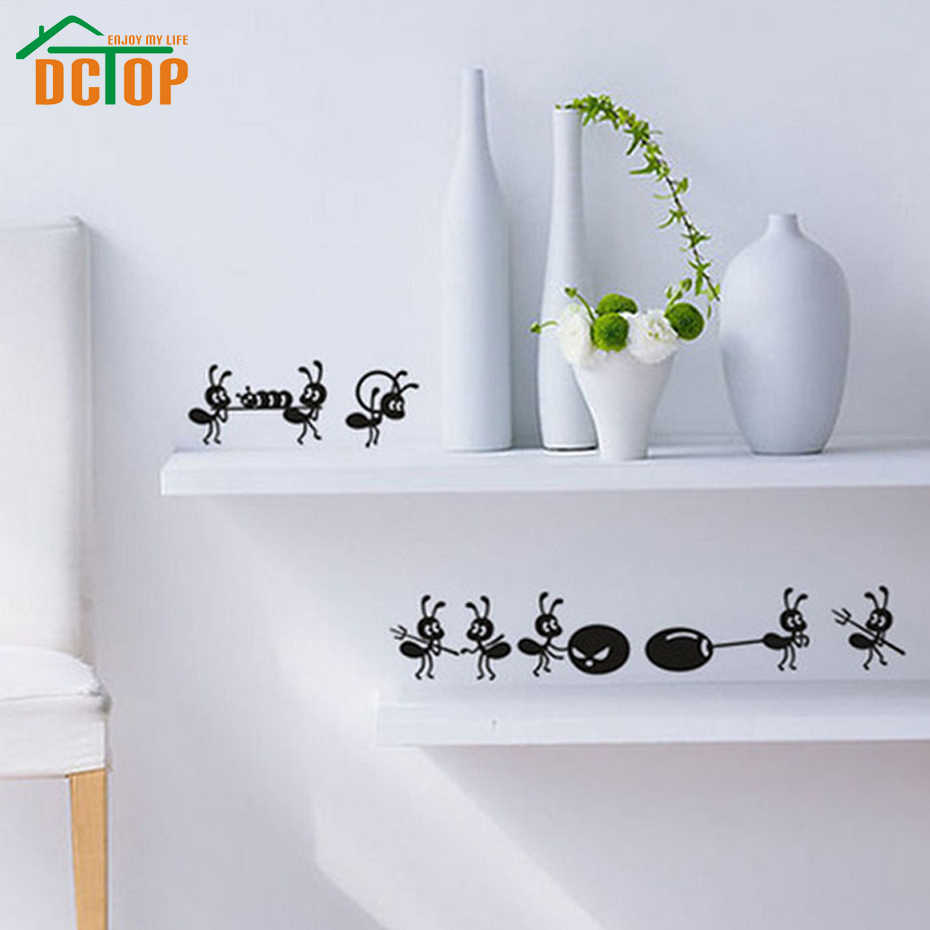 Animals Wall Sticker 8 Ants Move House Stickers Vinyl Wall Decals Kitchen Decoration Art DIY  Murals  Home Decor Adhesive