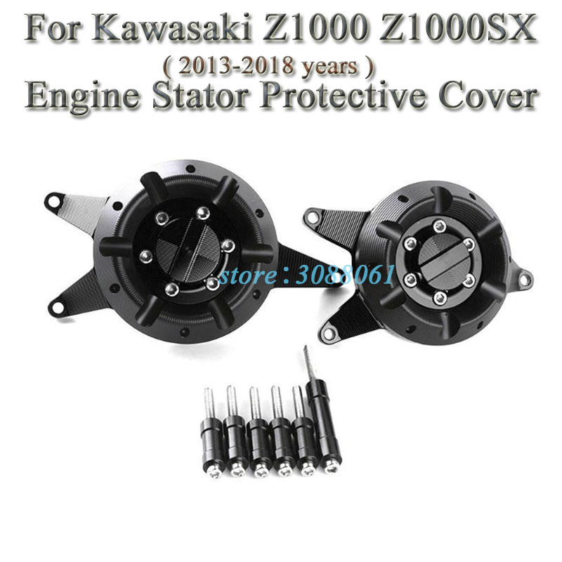 Z1000SX 11-15 Moto Aluminum Protector Guard Engine Magneto Engine Protective Cover for KAWASA-KI Z1000 10-18 Artudatech Motorcycle Engine Stator Cover
