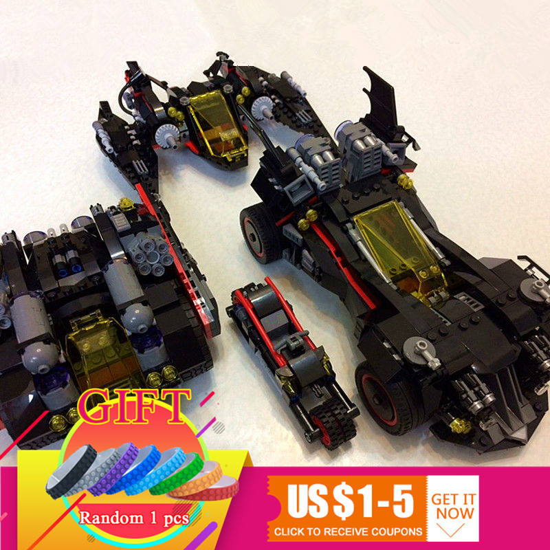 07077 1496pcs Batman Movie Series The Ultimate Batmobile Set DIY Toys Educational Building Blocks Compatible with 70917 lepin china brand bricks toy diy building blocks compatible with lego batman movie the batmobile 70905