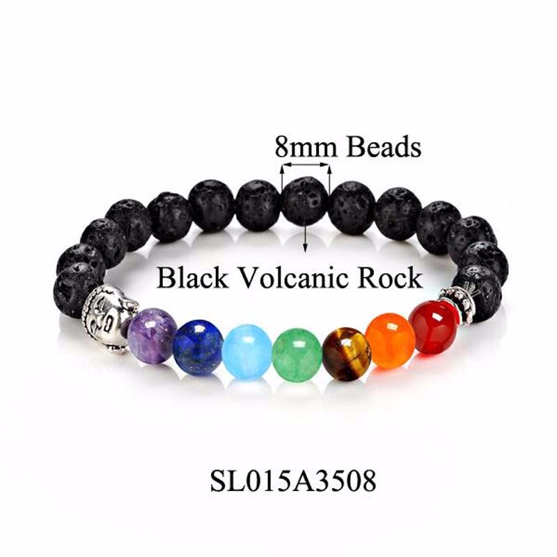 8 Colors 2018 7 Chakra Healing Balance Buddha Beads Bracelets Bangles Charm Natural Stone Bracelet Yoga Jewelry Men Women Gift 4