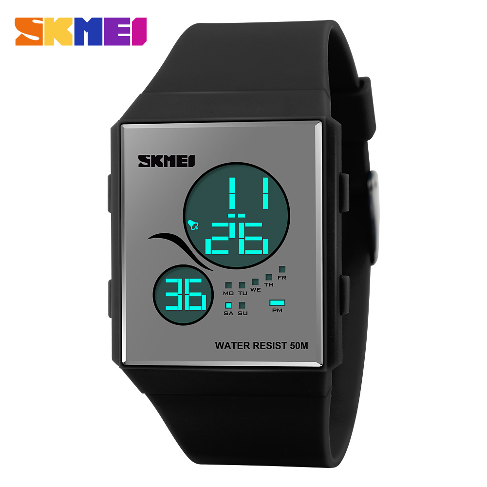 Fashion Casual <font><b>LED</b></font> Display Digital Watch For Women And Men Sports Watches Relogio Reloj Mujer 50M Waterproof Wristwatches