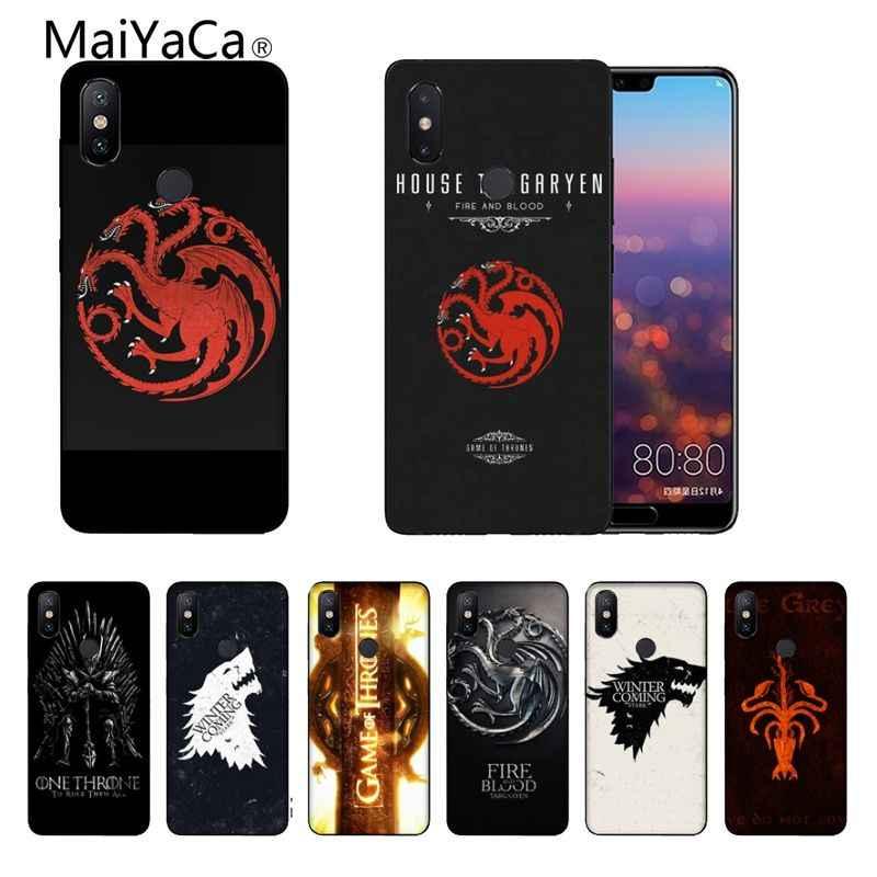 Game of Thrones DIY Impressão Desenho Caso de Telefone capa Shell Para Xiaomi Note2 Note3 MI6 MI8 Redmi5 Redmi 5 plus max2 Max3