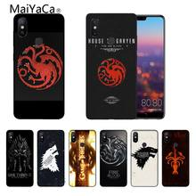 Game of Thrones DIY Printing Drawing Phone Case cover Shell For Xiaomi Note2 Note3 MI6 MI8 Redmi5 Redmi 5plus Max2 Max3(China)