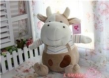 lovely cartoon cow plush toy cute big mouth cow stuffed doll birthday gift about 25cm