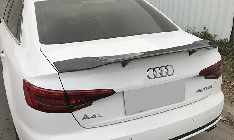 For Audi A4 B9 R Style 2017 2018 2019 Car Decoration High Quality Carbon Fiber Rear Trunk Spoiler in Spoilers Wings from Automobiles Motorcycles